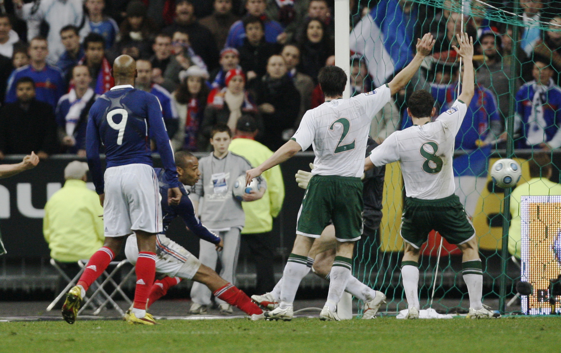 Thierry Henry France play-offs Republic of Ireland Tjeri Anri