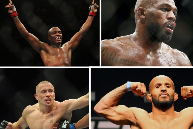 Anderson Silva, Jon Jones, Georges St-Pierre, Demetrious Johnson