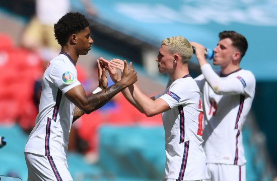 England's Marcus Rashford comes on as a substitute to replace Phil Foden Rašford Foden