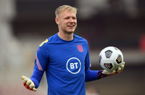 Aron Ramsdejl England's Aaron Ramsdale during the warm up