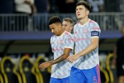 Manchester United's Jesse Lingard and Harry Maguire look dejected after the match Hari Megvajer Džesi Lingard