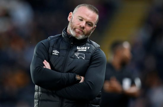 Vejn Runi Derby County manager Wayne Rooney